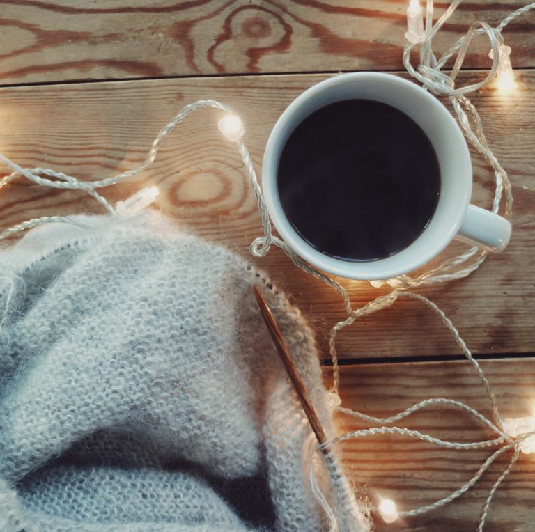 coffee-knitting-fairy-lights-xmas