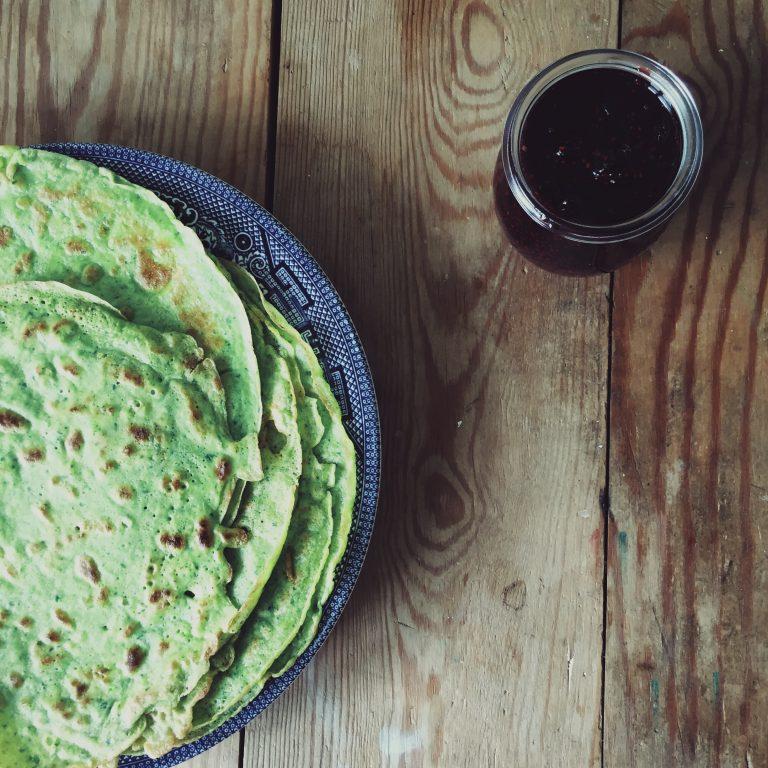green-pancakes-vegetarian-zero-waste
